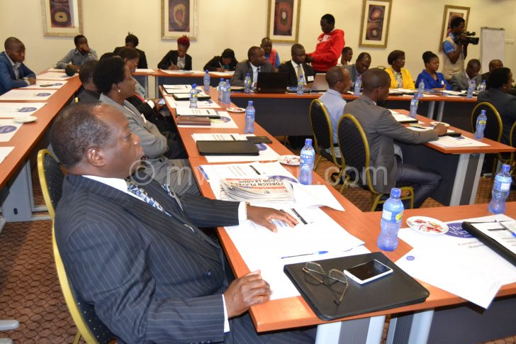 Some of the participants during the meeting on Tuesday