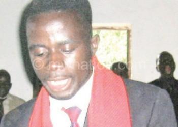 Lisimba addresses the youth during the training