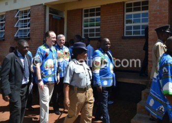 Delegates tour the new school hostels