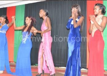 Miss Malawi Central Region representatives celebrate their victory last year