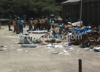 Part of ugly scenes against a goverment official resulting from religious intolerance in Mangochi