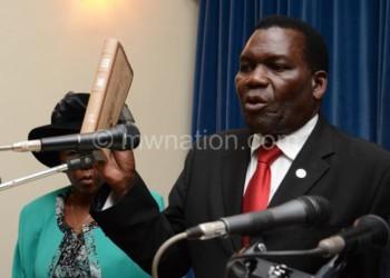Flashback: Chaponda taking ministerial oath in 2014