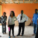 Artists touring the dilapidated Blantyre Cultural centre offices