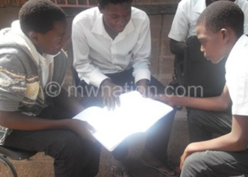 Students discussing education issues in a study circle