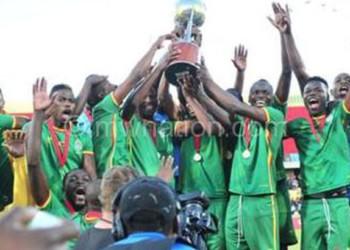Zimbabwe celebrate winning the regional tournament