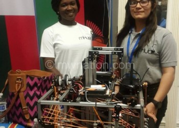 Rabecca and Shreya display their innovation in the US