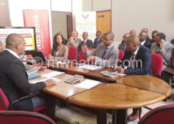 Trading in progress at Malawi Stock Exchange