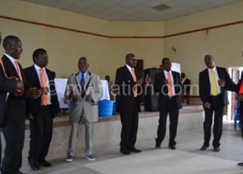 Chirimba Madodana singing in church last sunday