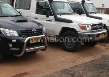 Some of the motor vehicles donated by World Vision