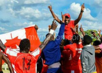 TN Stars celebrate their promotion into the Super League on Sunday