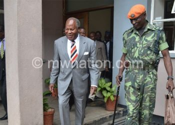 Muluzi at one of his court appearances