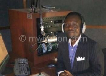Katsabola anchoring a live programme on Maziko  Community Radio Station