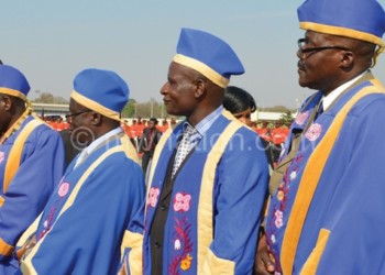 Traditional leaders at an official function: A majority of them are against death penalty