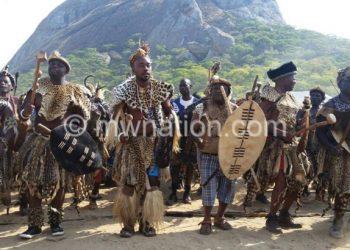 Part of last year's Umthetho celebrations ingoma war dance