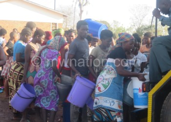 Residents have to scramble for water in Balaka