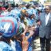 President greets DPP followers on arrival at Kamuzu International Airport