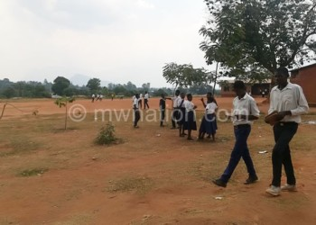 Long walk to access education: Students at Muloza CDSS captured during break time