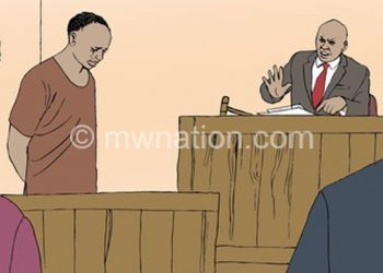 An illustration of court proceedings