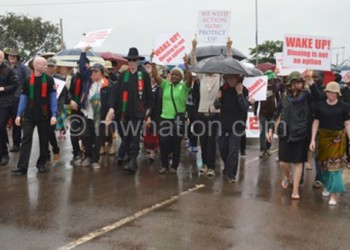 Apam members march against killings and abductions in the files photo