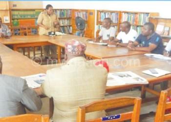 Nankhuni address stakeholders during the meeting