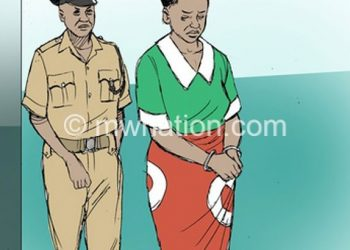 An illustration of an arrest