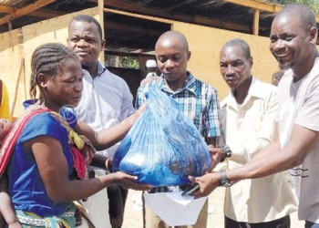 Aisa gets her child's pack of items