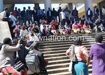 Judiciary workers in a previous strike