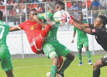 During the match between Bullets and FC Platinum, some fans 'invaded' the cordoned areas