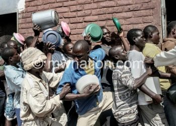 Inmates congested at Chichiri Prison in this file photo
