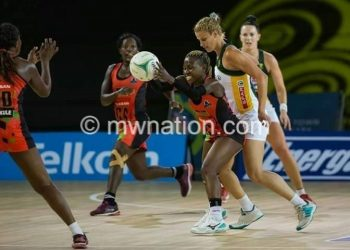 The Queens taking on the Proteas in African Netball Championship last year