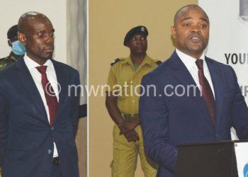 Kuwani (R) introduces running mate Kawalang'oma