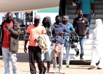 Some Malawians captured on arrival at KIA yesterday