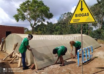 The biogas production unit that promises to absorb heaps of plant  and animal waste from Tsangano Trading Centre