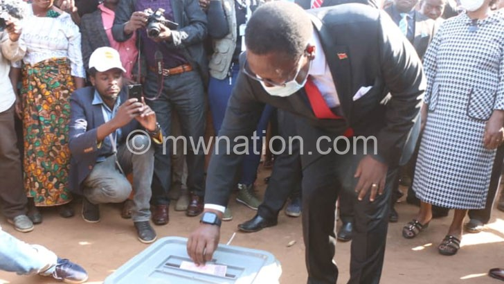 chakwera votes | The Nation Online