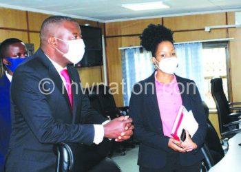 Kazako during his visit to Macra Head Office in Blantyre