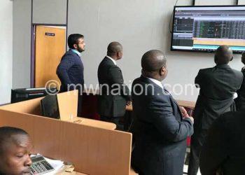 Transaction in progress at stock exchange