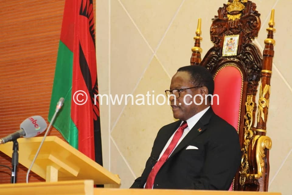 chakwera parliament2   The Nation Online