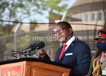 Chakwera speaks during the hotel inauguration on Friday