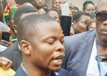 Bushiri speaks to journalists after appearing in court in Lilongwe recently