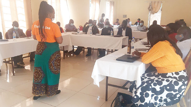 Lombe addresses participants   The Nation Online