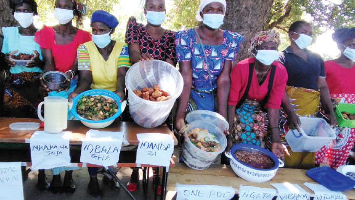 The farmers display their foodstuffs | The Nation Online