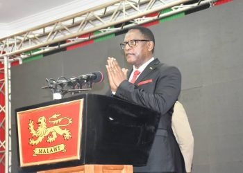 President Chakwera speaks during the launch of the Malawi National Backbone Fiber Phase II Project in Lilongwe