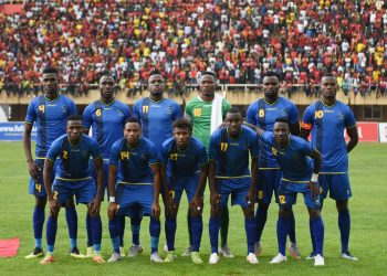 Tanzania get together for a team picture during the 2019 Afcon Qualifiers against Uganda on 08 September 2018 at Mandela Stadium, Namboole, Kampala. ©Ismail Kezaala/BackpagePix