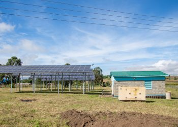 Solar panels produce electricity to power groundwater pumps for Dedza District