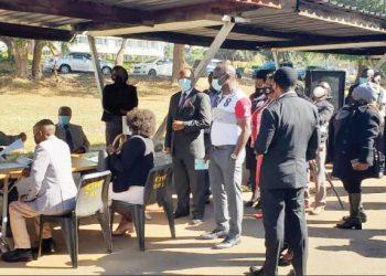 A Malawian gets a Covid-19 vaccine