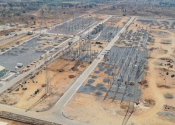 An aerial view of Nkhoma sub-station financed by MCC energy compact