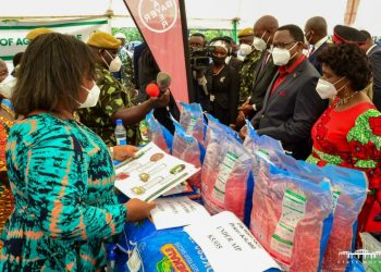 Chakwera inspects maize seed inputs during the 2021-22 AIP launch in Chiradzulu on Saturday