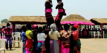 Women performing chinamwali traditional dance